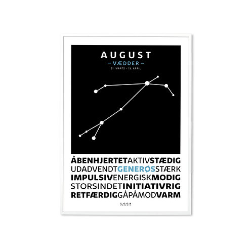 VÆDDER Horoskop-plakat med navn