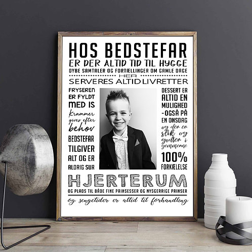 Hos BEDSTEFAR-plakat