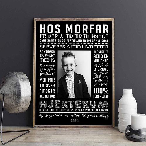 Hos MORFAR-plakat