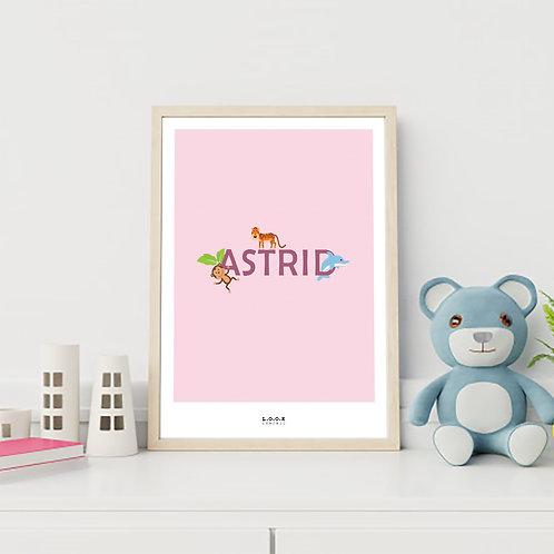 Navne-plakat til pige