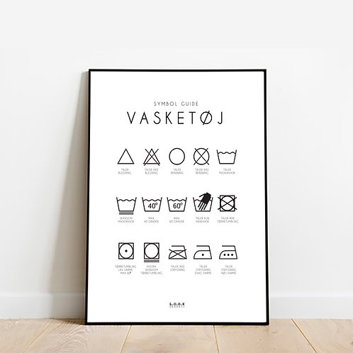 Vaskeguide plakat