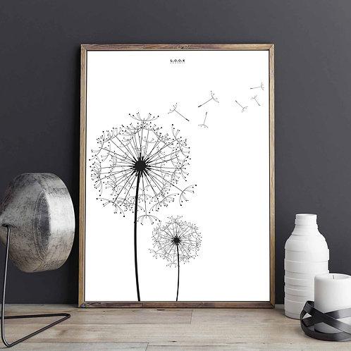 Blomster-plakat