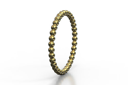 Beaded Ring Yellow Gold