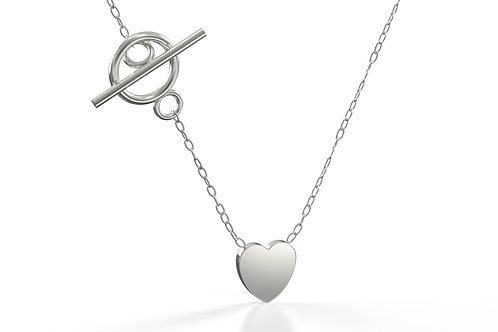 Heart and T Bar Necklace