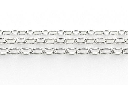 Oval Belcher Bracelet Silver