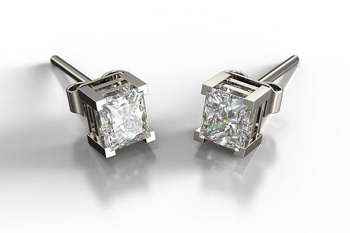 Diamond set 18ct White Gold Earring Studs