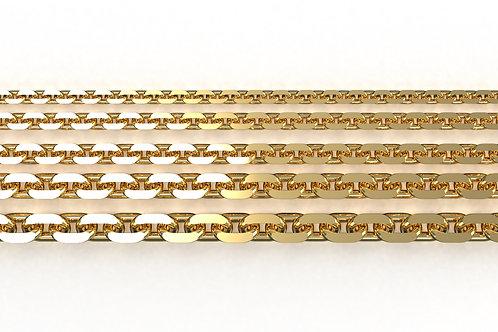 Diamond Cut Trace Chain Yellow Gold