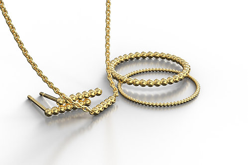 Beaded Collection Yellow Gold