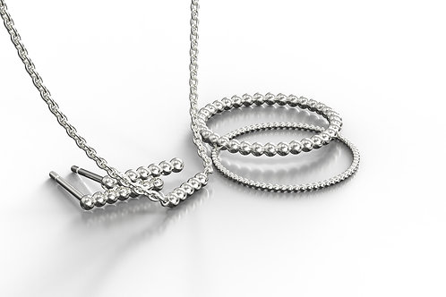 Beaded Collection Silver