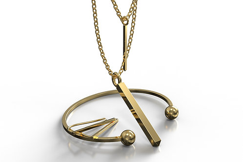 Square Collection Yellow Gold