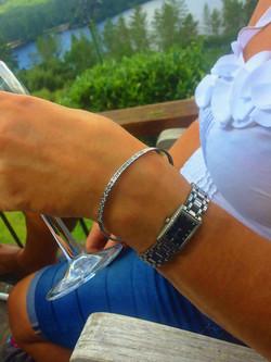 platinum bangle and della