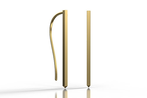 Square Drop Earrings Yellow Gold