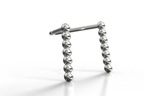 Beaded Earrings Silver