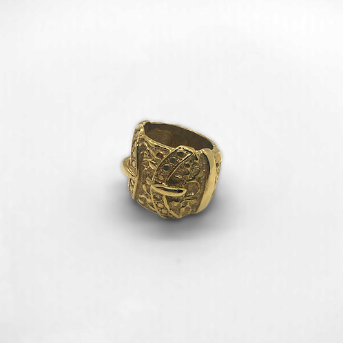 Double Buckle Ring 9ct Gold