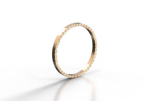 Diamond Set Stack Ring Wall Rose Gold