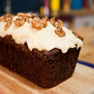 Carrot loaf cake with Cream Cheese Frost