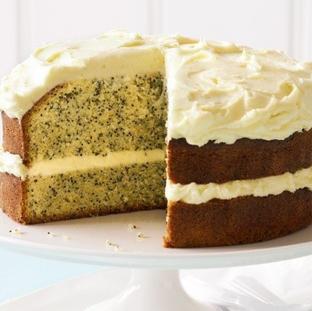 Orange Poppy Seed cake with cream cheese