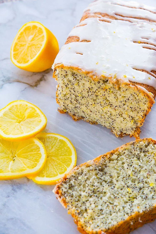 Poppy seed lemon loaf cake