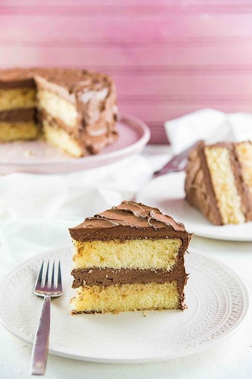 Vanilla Cake with chocolate butter cream
