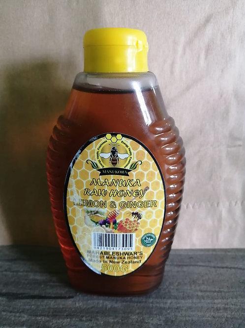 Manuka Raw Honey Lemon and Ginger