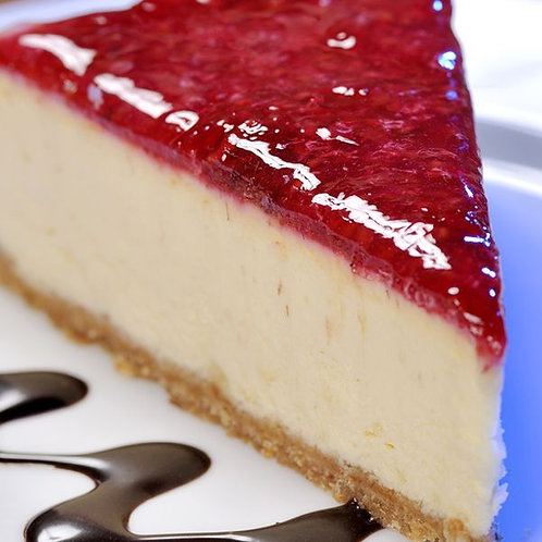 Baked cheese cake with berry