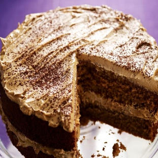 Coffee Cake with Coffee butter cream fro