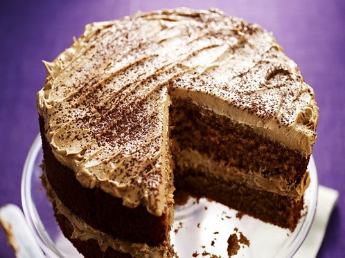 Coffee cake with coffee butter cream frosting