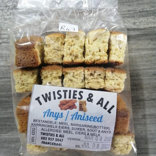 Twisties & All Anys / Aniseed Rusk.