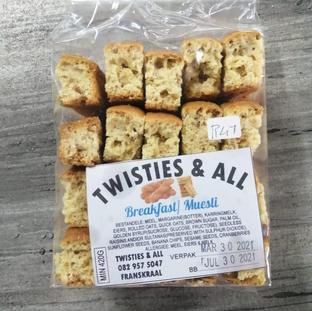 Twisties & All Brekfast / Muesli Rusk.