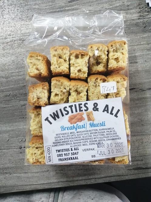 Twisties & All Brekfast / Muesli Rusk