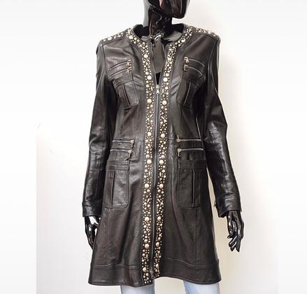 """Benedetta Novi"" leather coat"