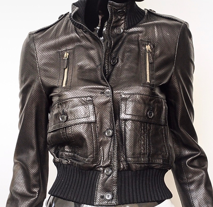 """""""Gucci"""" leather bomber jacket"""