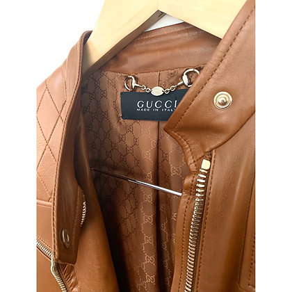 """Gucci"" leather jacket"
