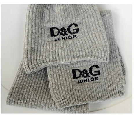 """Dolce & Gabbana"" hat and scarf"