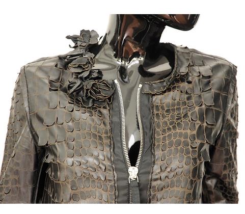 """Ermanno Scervino"" leather coat"