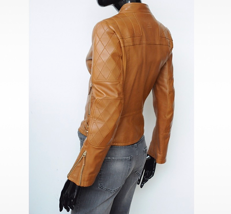 """""""Gucci"""" leather jacket camel"""