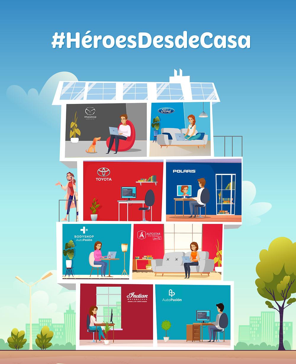 #HéroesDesdeCasa #QuédateEnCasa