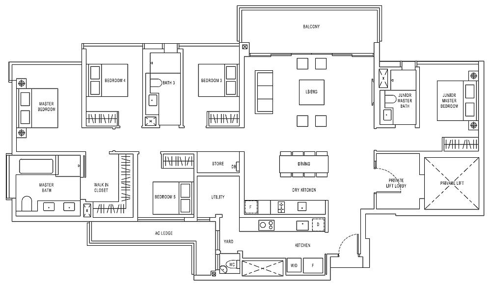 Jadescape 5 Bedrooms 2099 sqft floorplan