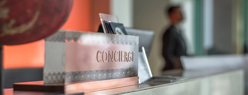 Rare residents concierge services in The Florence Residence in an OCR development.