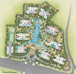 Site plan for The Florence Residence