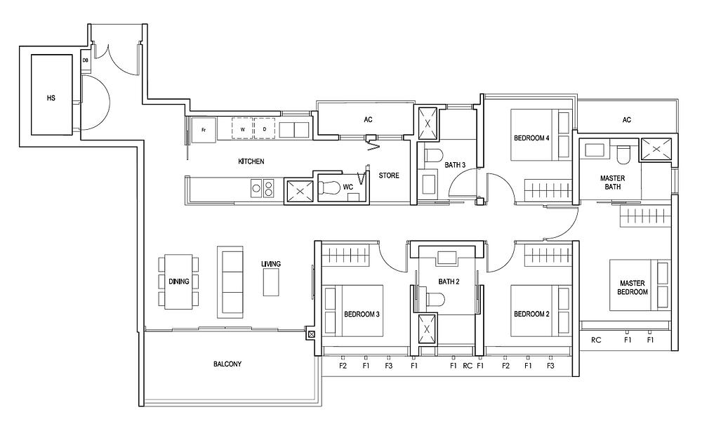 Penrose review 4 bedroom landscape living hall layout