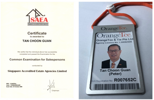 CEA certificate and Agent ID card