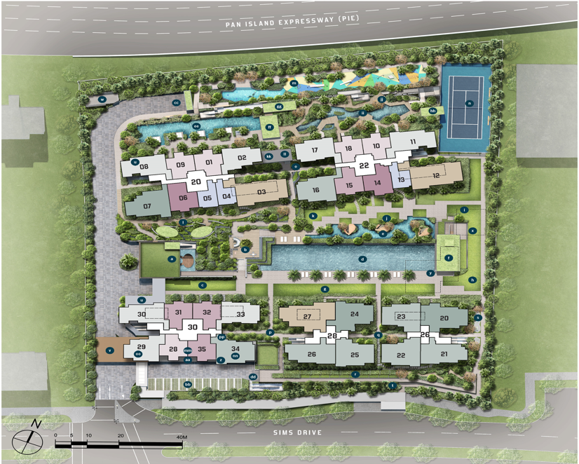 Penrose review - site plan. A new launch development in RCR, district 14.