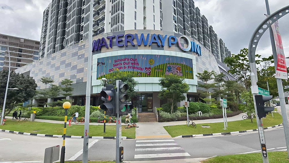 The Waterway Point -  one of the shopping mall that can easily link to The Florence Residence by MRT