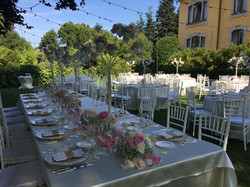 wedding dinner set up