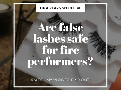 False lashes and fire performing