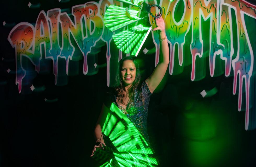LED Pixel Fans @Rainbow Vomit Dallas