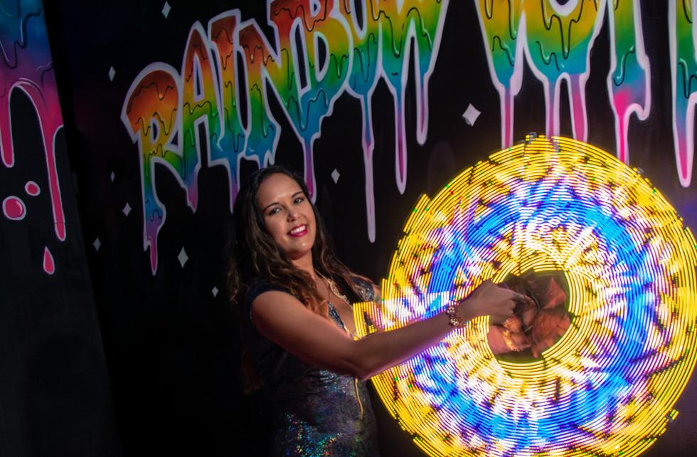 LED Pixel Fans @ Rainbow Vomit