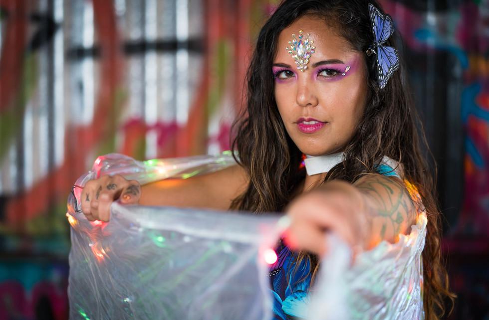LED Wings Circus Performer