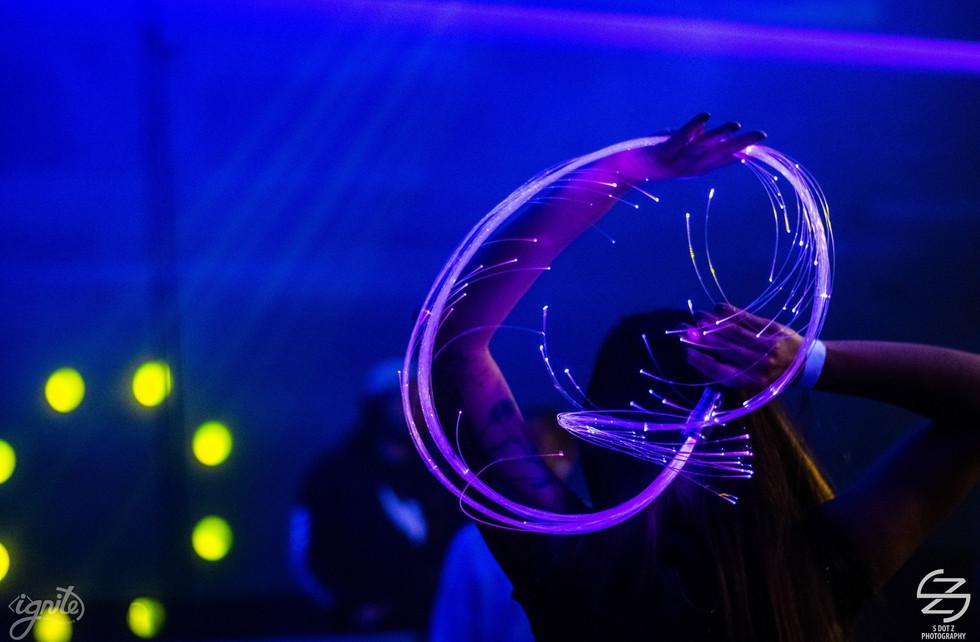 LED Fiber Optic Whip @ Project AI Dallas